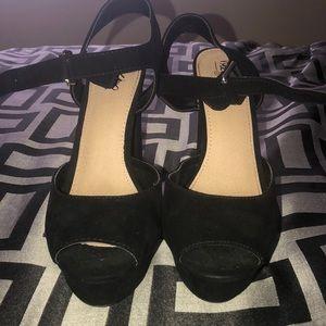 Black 6 inch heels